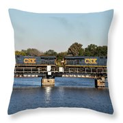 Csx On Mills Bayou Throw Pillow
