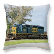 Csx Sd40-3 Throw Pillow