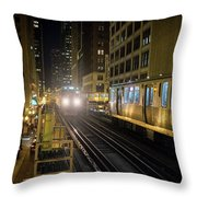 Cta Meet At The State-lake Street Station Chicago Illinois Throw Pillow