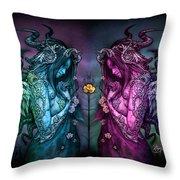 Cthluhu Rainbow Throw Pillow