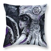 Cthuluphant  Throw Pillow