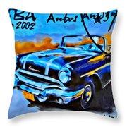 Cuba Antique Auto 1956 Catalina Throw Pillow