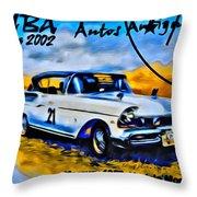Cuba Antique Auto 1957 Mercury Monterrey Throw Pillow