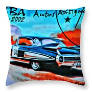 Cuba Antique Auto 1959 Fleetwood Throw Pillow