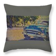 Cuba Car Throw Pillow