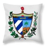 Cuba Coat Of Arms Throw Pillow