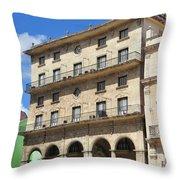 Cuban Building. Throw Pillow
