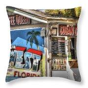 Cuban Coffee Queen Throw Pillow