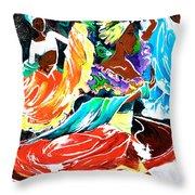 Cuban Dancers - Magical Rhythms... Throw Pillow