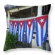 Cuban Flags Throw Pillow