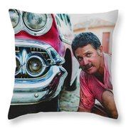 Cuban Mechanic Throw Pillow