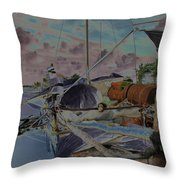 Cuban Refugee Raft  3 Throw Pillow