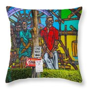 Cuban Street Art Throw Pillow