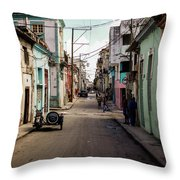 Cuban Street Throw Pillow