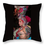 Cuban Tropicana Dancer Throw Pillow