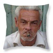 Cuba's Faces Throw Pillow