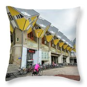 Cube Houses In Rotterdam Throw Pillow