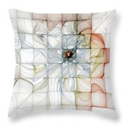 Cubed Pastels Throw Pillow
