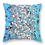 Cubic Separation Throw Pillow