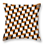 Cubism Squared Throw Pillow