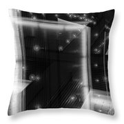 Cubistic Aspect Of Reflective Light Throw Pillow