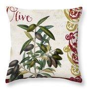 Cucina Italiana Olives Throw Pillow