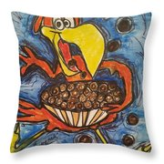 Cuckoo For Cocoa Puffs Throw Pillow