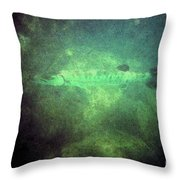 Cuda In The Water Throw Pillow