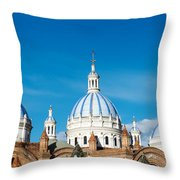 Cuenca Cathedral Domes Throw Pillow