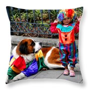 Cuenca Kids 136 Throw Pillow by Al Bourassa