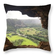 Cueva Ventana Throw Pillow