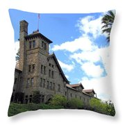 Culinary Institute Of America Greystone Throw Pillow