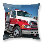 Cullasaja Gorge Fire Rescue - Engine 1653, North Carolina  Throw Pillow