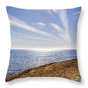 Cullercoats Pier Throw Pillow