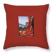 Cultural Drawings Throw Pillow