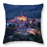 Cultural Heritage Monument Medieval Hilltop Village Of Smartno B Throw Pillow