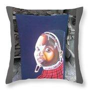 cultural Masaai Woman Throw Pillow