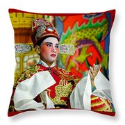 Cultural Opera Actor In Red Throw Pillow