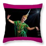 Cultural Thai Dance Throw Pillow