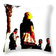 Culture-in-motion Throw Pillow