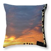 Culver City Marquee Throw Pillow