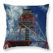 Culver Fire Tower Throw Pillow