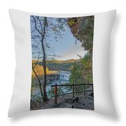 Cumberland Falls Ky From Eagle Falls Trail Throw Pillow