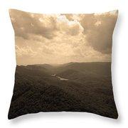 Cumberland Gap - Kentucky Sepia Throw Pillow