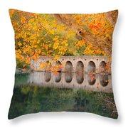 Cumberland Mountain State Park Bridge Throw Pillow