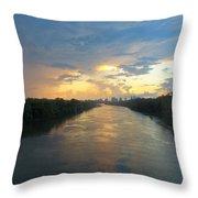 Cumberland River - Nashville  Throw Pillow