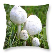 Cumberland Toadstools Throw Pillow