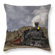 Cumbres And Toltec Railroad Crossing Nm Dsc04057 Throw Pillow