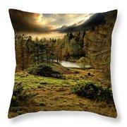Cumbrian Drama Throw Pillow by Meirion Matthias