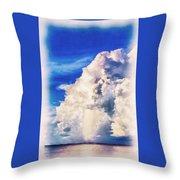 Cumulonimbu Over Tampa Bay Throw Pillow